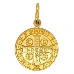 Złoty Medalik Św. Benedykta L złoto 585