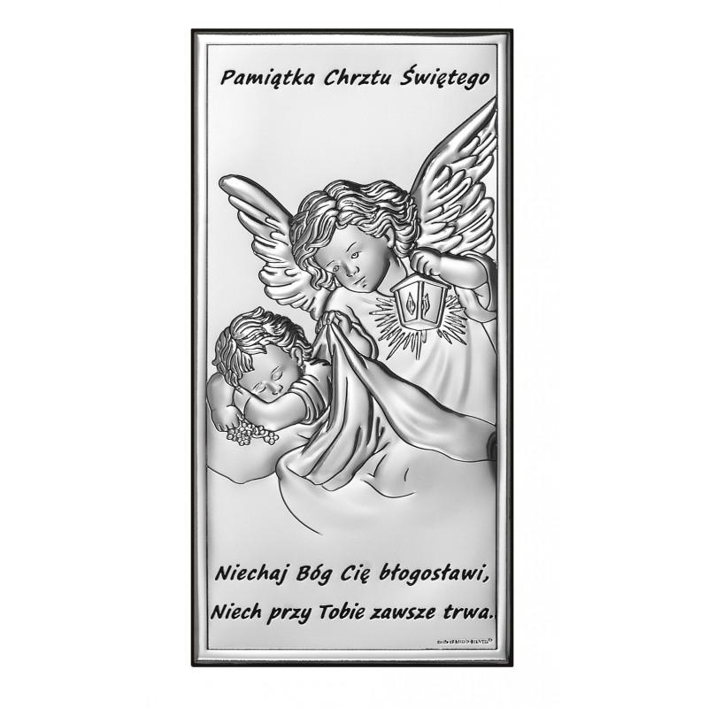 Obrazek Srebrny Pamiątka Chrztu Świętego 7x14cm