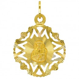 Pamiątka Chrztu św. łańcuszek i medalik Matka Boża ażur pr 585