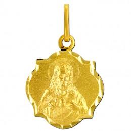Złoty Szkaplerz, dwustronny S medalik Matka Boża z góry Karmel