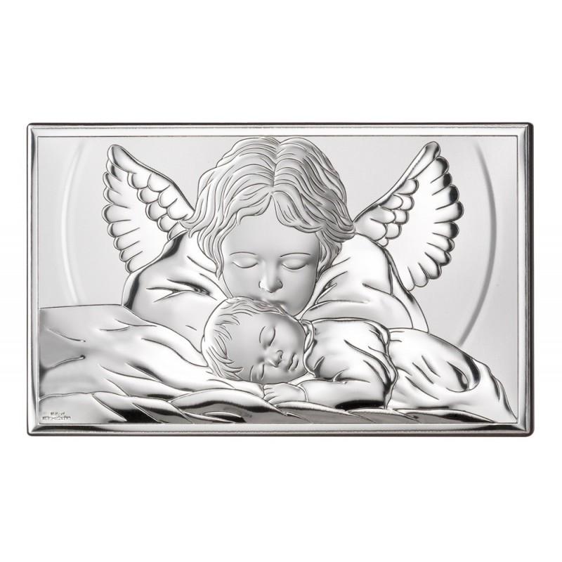 Obrazek Srebrny Chrzest Święty 15x9cm