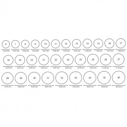 Obrączki płaskie prostokątne 5 soczewka 14/3,51g pr. 585