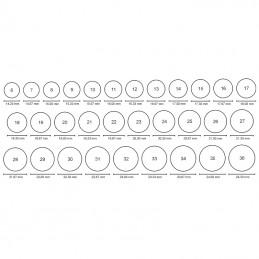 Obrączki płaskie prostokątne 5 soczewka 23/4,0g pr. 585