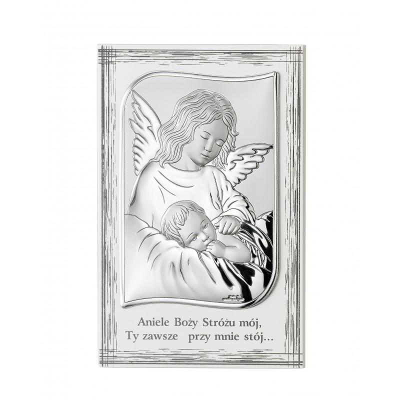 Obrazek Srebrny Chrzest Święty 11,5x17,5cm