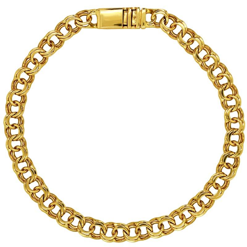 Złota bransoletka splot Bismark Garibaldi 9,9 pr. 585