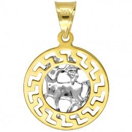 Strzelec znak zodiaku przywieszka pamiątka z białym złotem 585