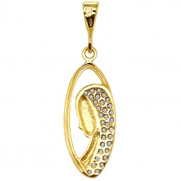 Złoty medalik Matka Boża Fatimska Pamiątka 1,18g złoto 585