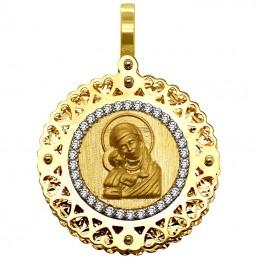 Złoty medalik Matka Boża...
