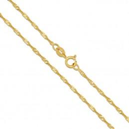Złoty Łańcuszek splot Singapur szlifowany złoto 585