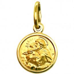 Złoty medalik Św. Antoniego...