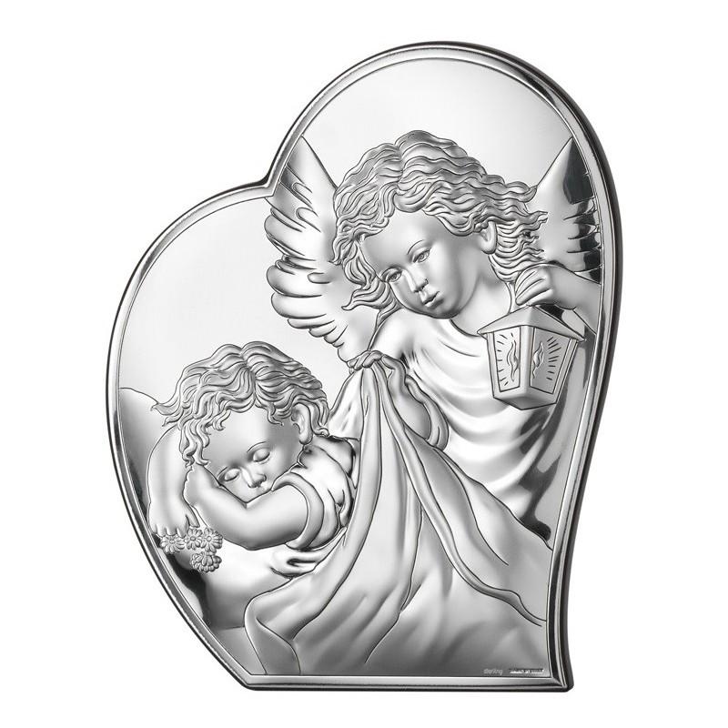 Obrazek Srebrny Chrzest Święty 9x10,7cm