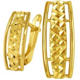 Złote kolczyki Ażurowe...