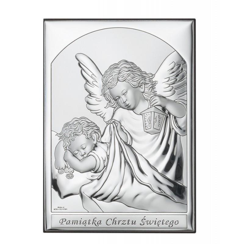 Obrazek Srebrny Chrzest Święty 9x13cm