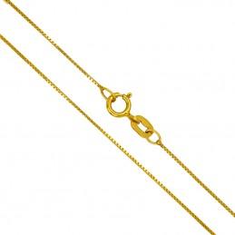 Złoty łańcuszek kostka pr. 585