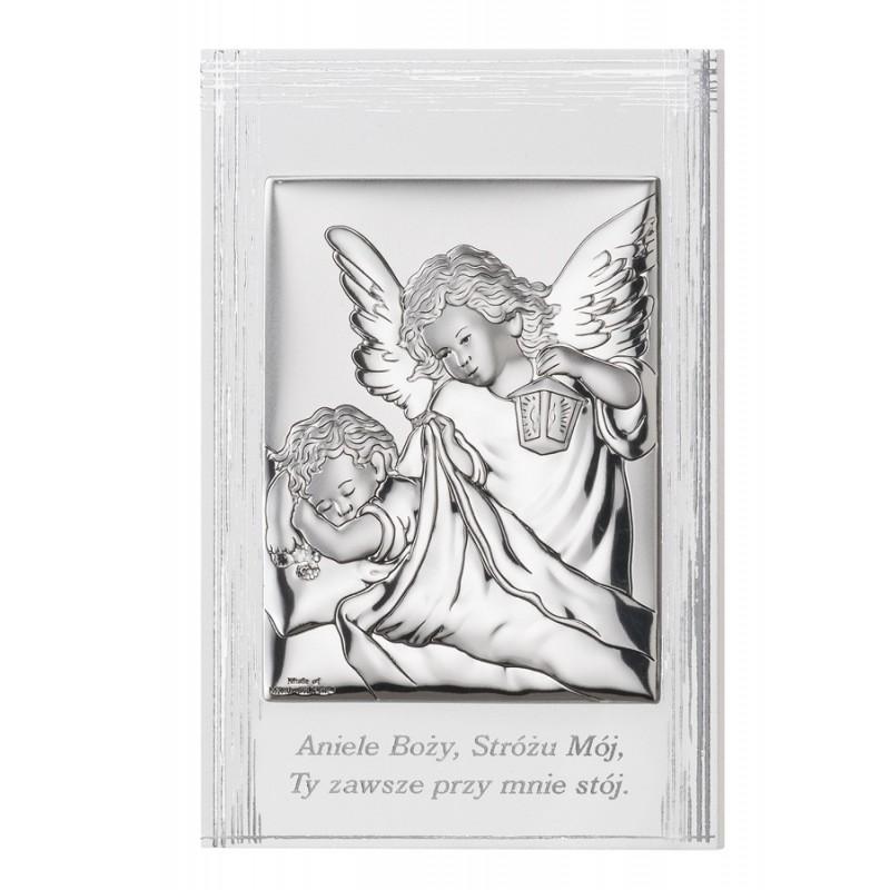 Obrazek Srebrny Chrzest Święty 9x13,5cm