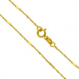 Złoty łańcuszek singapur z...