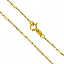 Złoty łańcuszek singapur z blaszkami pr.585