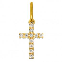 Złoty Krzyżyk Zdobiony Cyrkoniami złoto 585