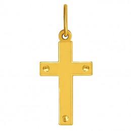 Złoty Krzyżyk Ozdobny z figurą Jezusa Chrystusa białe złoto 585