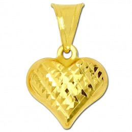 Złote serduszko grawerowane...