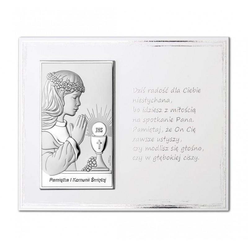 Obrazek Srebrny I Komunia Święta 13x18cm