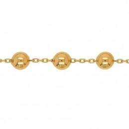 Złota bransoletka z kulkami