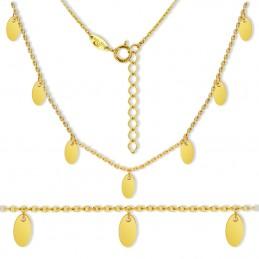 Złoty łańcuszek Celebrytka Łezki 7  pr. 585