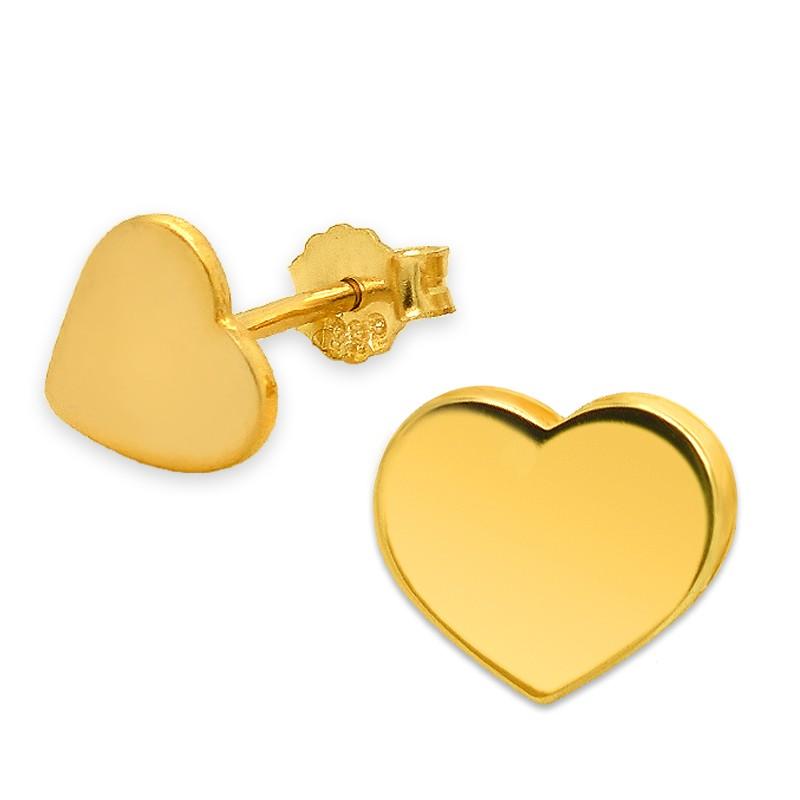 Złote kolczyki Serduszka sztyft pr.585