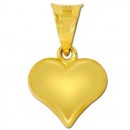 Złote serduszko grawerowane Jodełka S pr. 585