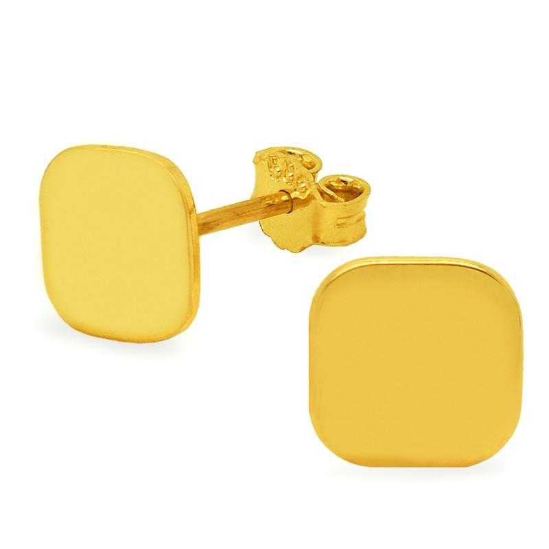 Złote Kolczyki Kwadraty sztyft pr.585