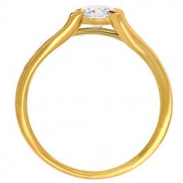 Złoty Pierścionek Zaręczynowy model Paryski złoto 585