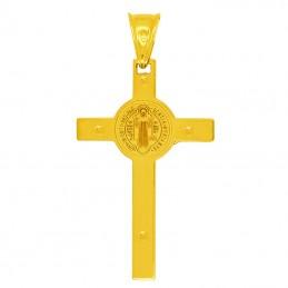 Złoty Krzyż św. Benedykta L złoto 585