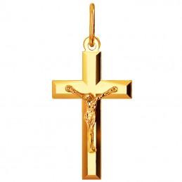 Złoty Krzyżyk Polerowany z...