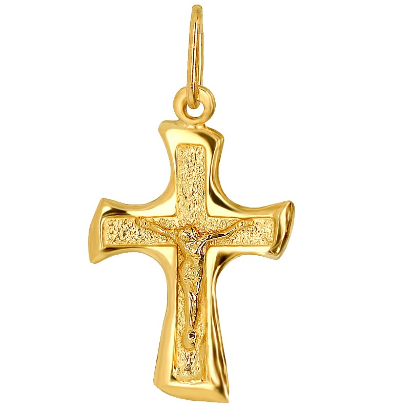 Krzyżyk katolicki warszawski złoto 585