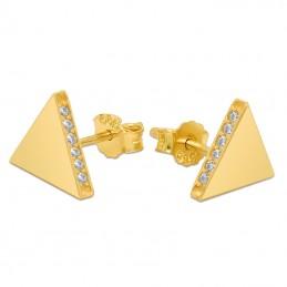 Złote Kolczyki Piramidki...