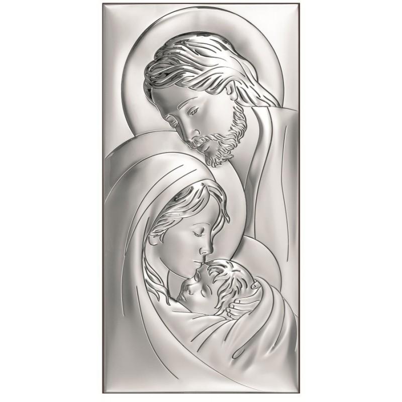 Obrazek Srebrny Świętej Rodziny 6x12cm