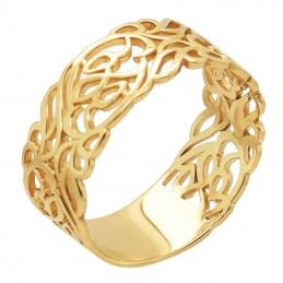 Złoty Pierścionek Szeroki...